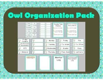 Owl Themed Teacher Organization Pack