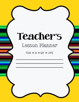 Owl Themed Teacher Planner