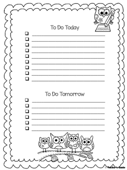 Owl  To Do Lists and Notes Home