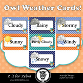 Owl Themed Weather Cards