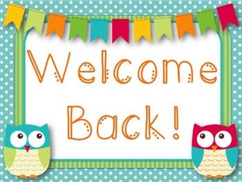 Owl Themed Welcome Back Printable (Freebie!)