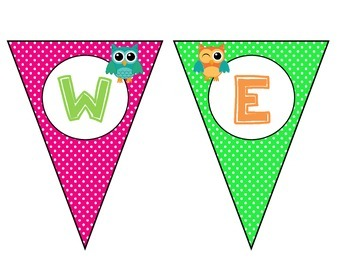 Owl Themed Welcome Banner