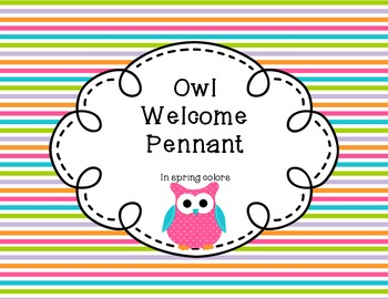 Owl Themed Welcome Pennant