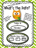 "Owl Themed ""What's the Date?"" Wall Display for Writer's Workshop"
