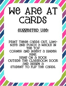 """Owl Themed """"Where We Are"""" Cards"""
