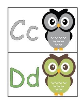 Owl Themed Word Wall Headers