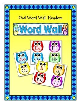 Owl Classroom Essentials: Word Wall Headers, Number Line, Calendar, & Borders