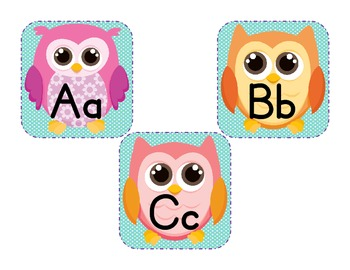 Owl Themed Word Wall Letters