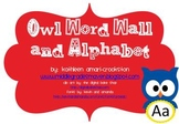 Owl Themed Word Wall and Alphabet