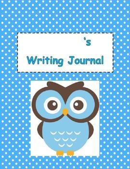 Owl Themed Writing Journal - Pre Primer