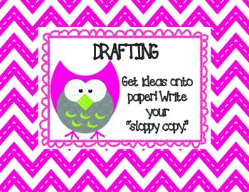 FREE Owl Themed Writing Process Posters