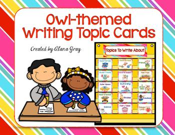 Writing Topic Cards - Owl Inspired