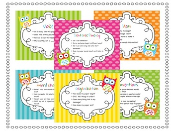 {Owl Themed} Writing Traits Posters