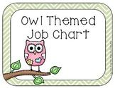 Owl Themed **editable** Job Chart