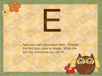 Bulletin Board Headers: Owl Themed (editable)