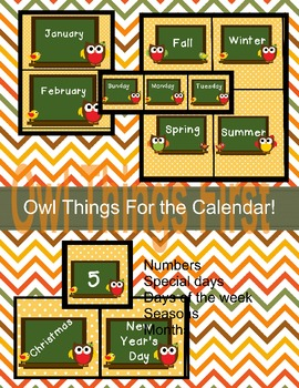 Owl Things for the Calendar