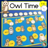 Owl Time - Telling time to the hour, half hour and quarter hour, first grade