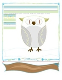 Owl Tracing and Cutting - Fine Motor Skills Practice - Autumn