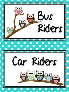 Owl Transportation Ribbon Organizer