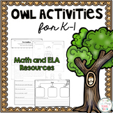 Owl Activities for K-1