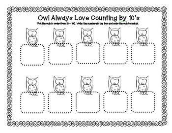 Owl Unit ~ Literacy & Math Centers