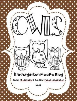 Owl Unit ~ Literacy & Math Centers