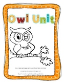 Owl Unit - Perfect Unit to Learn About Owls for Primary