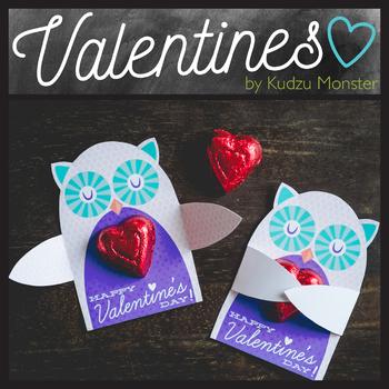 Owl  Valentine Candy Hugger