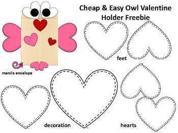 Owl Valentine Holder FREEBIE