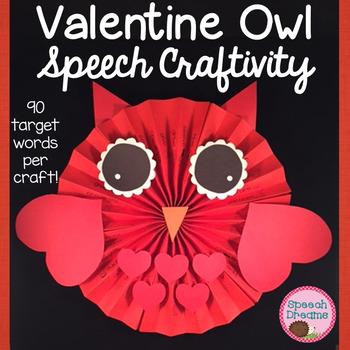 Owl Valentine Rosette Speech Therapy Craft {articulation language craftivities}