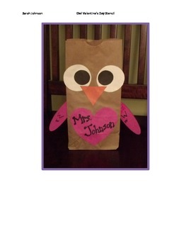 Owl Valentine's Day Bag