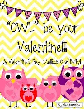Owl Valentine's Day Mailbox Craft
