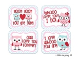 Owl Valentines // Hoot Hoot! You are cute!