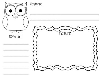 Owl Vocabulary Graphic Organizer
