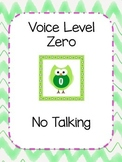 Classroom Management Owl Voice Level Chart