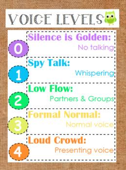 Owl Voice Level Management Chart