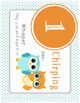 Owl Voice/Noise Levels - White & Turquoise Polka Dot Posters