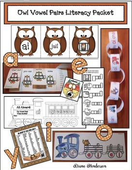 Owl Vowel Pairs Literacy Packet