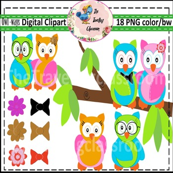 Owl Ways  (Digital Clipart for Commercial Use)