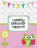 Owl Weekly Behavior Reports