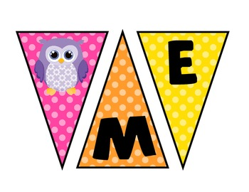 Owl Welcome Banner