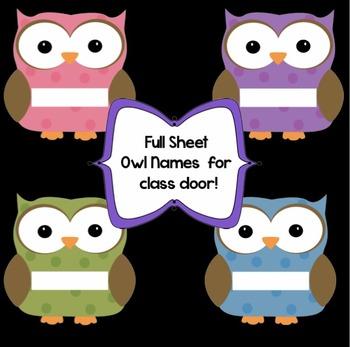 Owl Welcome Banner - Desktop Names - Door Names