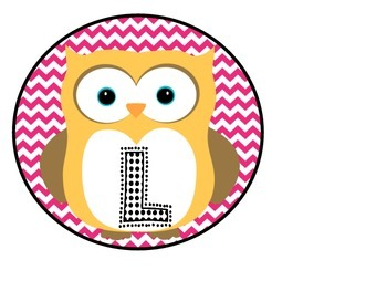 Owl Welcome Banner Pink and Green Chevron