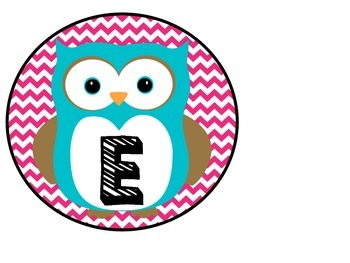 Owl Welcome Banner Yellow And Pink Chevron