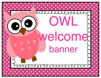 Owl Welcome Banner (back to school!)