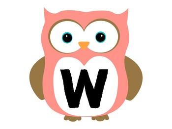 Owl Welcome Bulletin Board Set