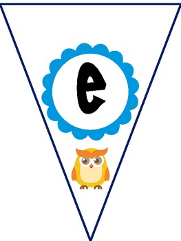 Owl Welcome Pennant Banner for Owl Theme