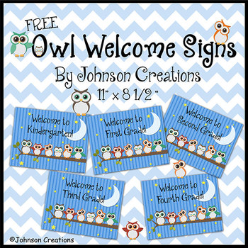 Owl Welcome Posters