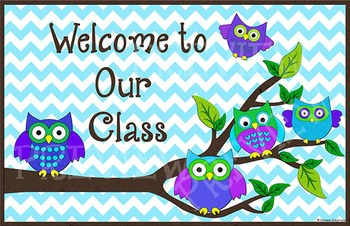 Owl Welcome to Our Class Sign
