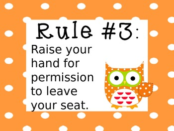 Owl Whole Brain Teaching Rules - Editable